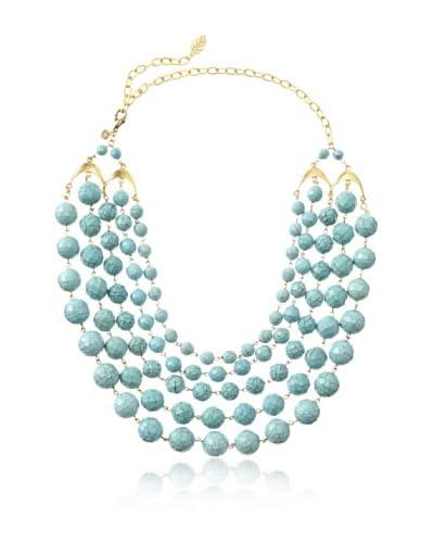 David Aubrey Rissa Multi Strand Turquoise Bead Necklace