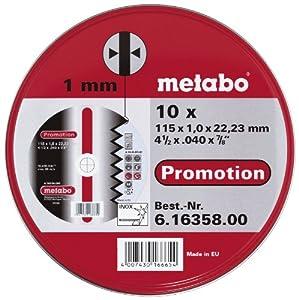 Metabo - 6.16358.00 - Disque à tronçonner - Acier inoxydable - 115 x 1 mm - Lot de 10 (Import Allemagne)