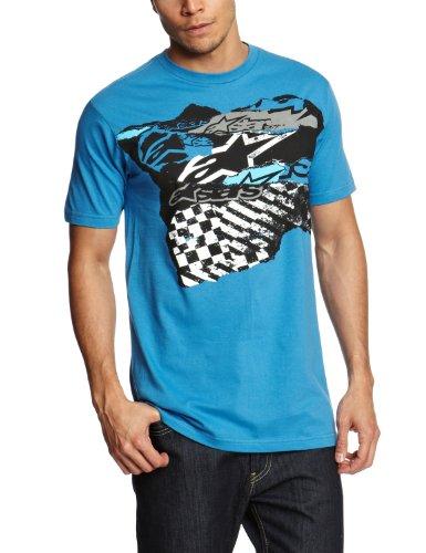 Alpinestars Torn Up Slogan Men's T-Shirt Blue Fade Large
