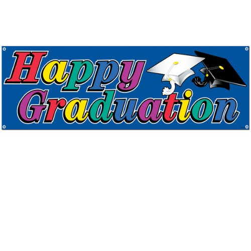 Happy Graduation Sign Banner Party Accessory (1 count) (1/Pkg)