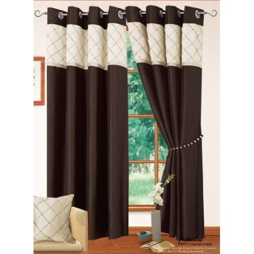 Top 14 Fully Lined Readymade Curtains In Chocolate