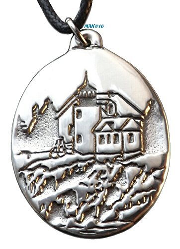 lighthouse-bass-harbor-acadia-national-park-maine-pewter-pendant-seaside-ocean-shore-beach-by-ravent