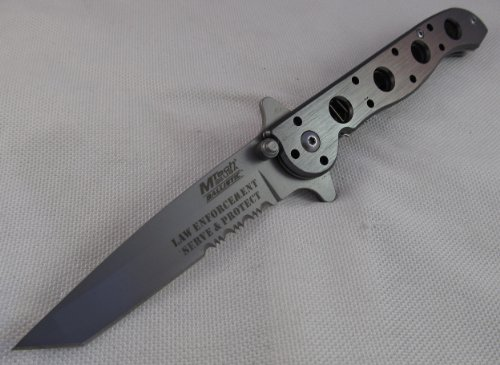 Mtech knife low cost: M-Tech Law Enforcement Grey Spring Assisted