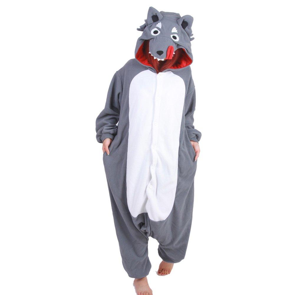 Cartoon Pajamas Costume Cosplay Wolf Lounge Wear