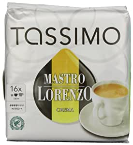 Mastro Lorenzo Crema Coffee, T-Discs for Tassimo Coffeemakers, 16-Count Packages (Pack of 2)