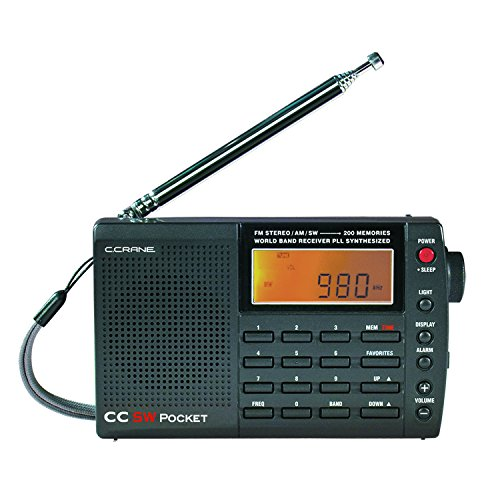 C Crane Cc Sw Pocket Am/Fm Shortwave Pocket & Travel Radio With Ac Adapter Swpk2