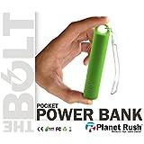 Bolt Mini+ Pocket 3 in 1 USB Power Bank Battery Charger + Flashlight + KeyChain BackPack Carabiner & Lanyard New Gen Elegant Ultra Compact Travel Design & Fast Emergency Charge (Black)