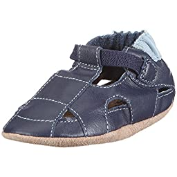 Robeez Soft Soles Sandal Crib Shoe (Infant/Toddler),Blue Navy,0-6 Months (1-2 M US Infant)