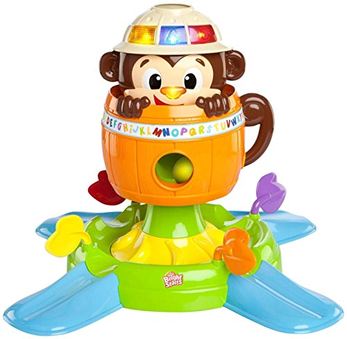 Bright Starts Baby Toy, Hide 'n Spin Monkey - 1