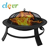 Clevr-295-Metal-Firepit-Backyard-Patio-Garden-Bon-fire-heater-Pit