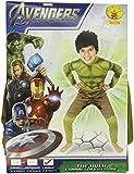 Costume Hulk Avengers Taglia L 7/8 Anni CM 128
