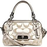 Coach Signature Kristin Zip Top Satchel Bag Tote 16872 Platinum