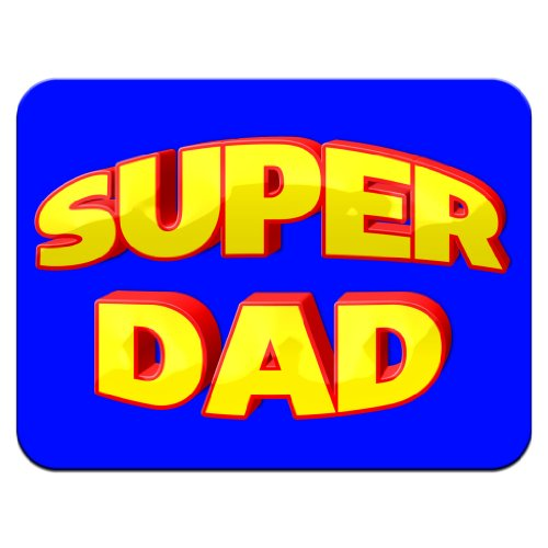 Super Dad Fathers Day Birthday Gift Premium Quality Thick Rubber Mouse Mat Pad Soft Comfort Feel Finish
