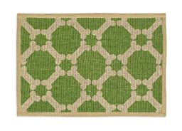 Buddy\'s Line Natural Jute Pet Placemat, Green Background