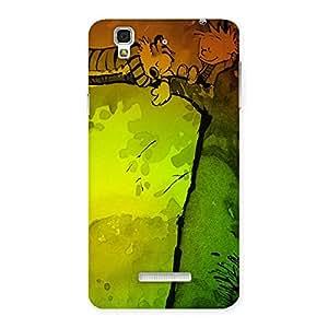 Sleeping On Tree Back Case Cover for YU Yureka Plus