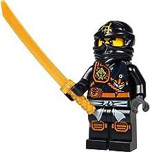 LEGO® Ninjago Minifigure - Cole Zukin Robe (Black Ninja) with Gold Katana