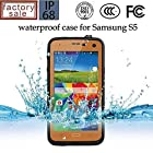 Queens@ Waterproof Water Resistant Case Cover for Samsung Galaxy S5 Sv V I9600 Phone,dustproof Snowproof Shockproof Hard Armor Protective Cover Case for Samsung Galaxy S5 Sv V I9600 ( 0-samsung S5 Waterproof Orange)