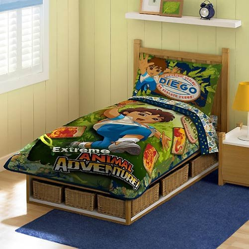 Go Diego Toddler Bedding Set 4 Pc Comforter Sheets Bed