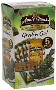 Annie Chun's Seaweed Snacks, Sesame Grab N Go, Net Wt. 0.5 oz (Pack of 12) by Annie Chun's