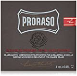 Proraso Hot Oil Beard Treatment, 4 Count
