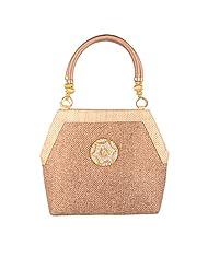 Venus Jute Double Handle Light Brown Ethnic & Traditional Handbags For Women