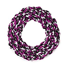 Grriggles Rope Ring Dog Toys, Purple, 7.5\