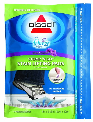 BISSELL Stomp 'n Go with Febreze Freshness Stain Lifting Pads, 12C6