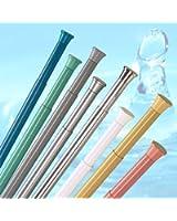 barre pour rideau de douche SLIM LINE 125 cm - 220 cm blanche ALU!