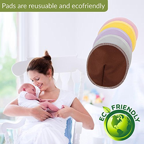 Brooklyn Baby Bamboo Nursing Pads (10-Pack) - Reusable ...