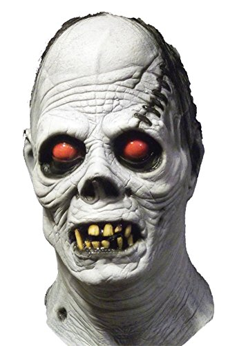 Albino Ghoul Horror Zombie Red Eyes Monster Latex Adult Halloween Costume Mask