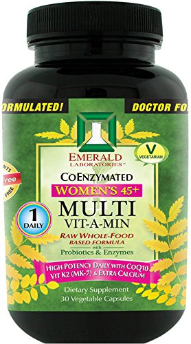 Emerald Laboratories - Women's 45+ Multi Vit-A-Min (1-Daily) - with CoQ10, Vit K2 (MK-7) & Extra Calcium - 30 Vegetable Capsules (Quinoa Extract compare prices)