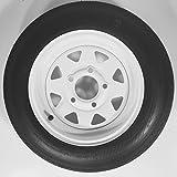 "eCustomRim 2-Pack Trailer Tire & Rim 4.80-12 12"" Load C 5 Lug White Spoke 30660"