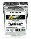 PINE POLLEN (Pinien Pollen) - Natürliche Wildsammlung - TOP-Qualität vom Original - ISO-9001-zertifiziert + laborgeprüft - 100g