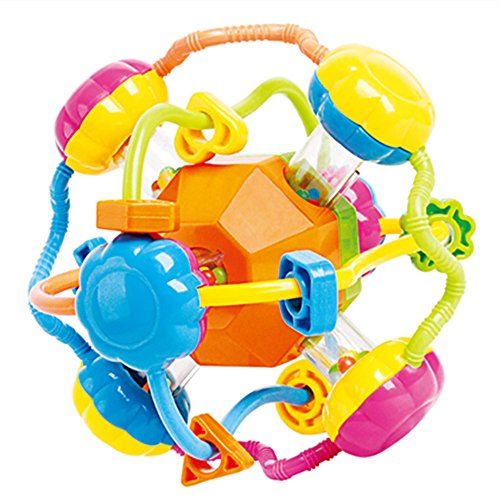 Happytime Infant Activity Baby Rattle Spinning Ball Toys for Toddlers