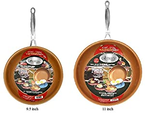 GOTHAM STEEL 9.5 inch and 11 inch Non-stick Titanium Frying Pans BUNDLE by Daniel Green