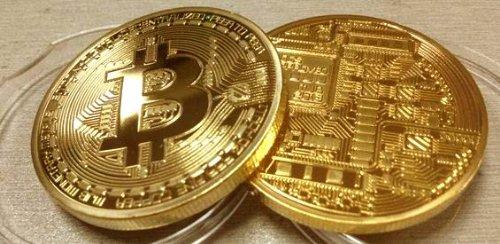 1oz .999 Fine Gold Plated Bitcoin Commemorative Round