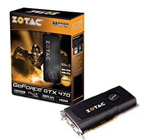ZOTAC GeForce GTX 470 1280 MB GDDR5 PCI-Express Graphics Card ZT-40201-10P