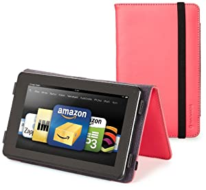 Marware Eco-Vue Genuine Leather Case Cover for Kindle Fire, Pink (does not fit Kindle Fire HD)