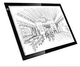 Parblo A2 Ultra-thin 26 Inches LED Light Pad 8000K~10000K Color Temperature 3200 Lux LED Light Tracing Board for Photography, Architecture and X-Ray Films,etc