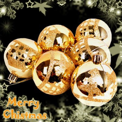 CHRISTMAS TREE Decoration 6 Pcs 60mm Ball Bauble