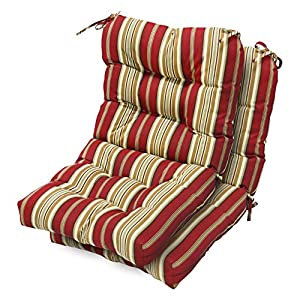Greendale Home Fashions Outdoor Seat/Back Chair Cushions, Roma Stripe, Set of 2 by Greendale Home Fashions - Lawn and Garden