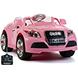 RIDE ON PINK BATTERY AUDI STYLE CAR WITH PARENTAL CONTROL