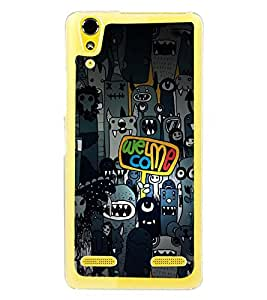 Fuson Premium Evil Welcome Metal Printed with Hard Plastic Back Case Cover for Lenovo A6000