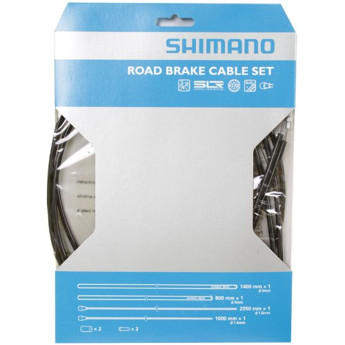 Shimano PTFE Road Brake Cable and Housing Set (Black) (Shimano Cable Housing compare prices)