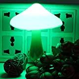 KINGSO Magic Mini Pretty Mushroom-Shaped Energy Saving LED Night Light with Romantic Light Sensor Lamp(Green)