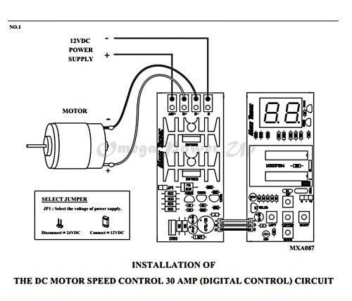 Dc motor speed control hho pwm 12v 24v 30a digital version for 24v dc motor controller circuit