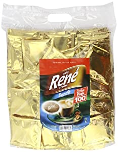 Order Café Rene Crème Decaffeinated Coffee Pads (Pack of 1, Total 100 Coffee Pads) from GroceryCentre