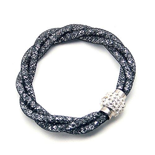 Beautiful Bead Stardust Bracciali Mesh Bracciale con cristallo pieno Sawrovski elementi, catenaccio magnetico Encrusted Stardust Bracciale