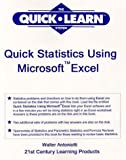 img - for Quick Statistics Using Microsoft Excel with disk (The Quick Notes Learning System Series) book / textbook / text book