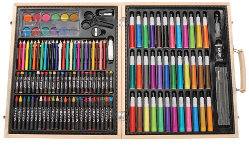 Darice 131-Piece Premium Art Set with Wood Box (Pencil Art Box compare prices)